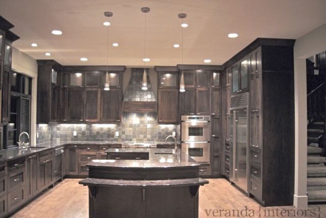 u shaped kitchen island photo - 3