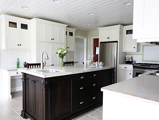 u shaped kitchen island photo - 4