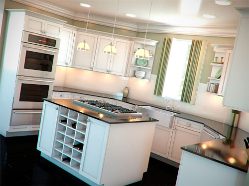u shaped kitchen island photo - 5