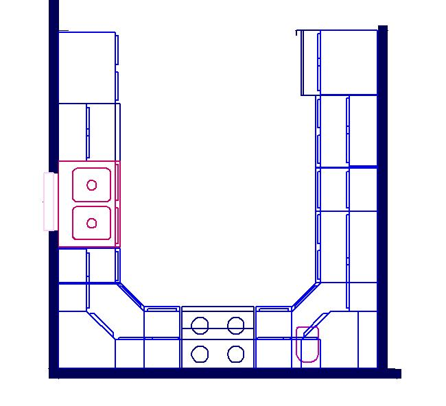 u shaped kitchen layout photo - 3