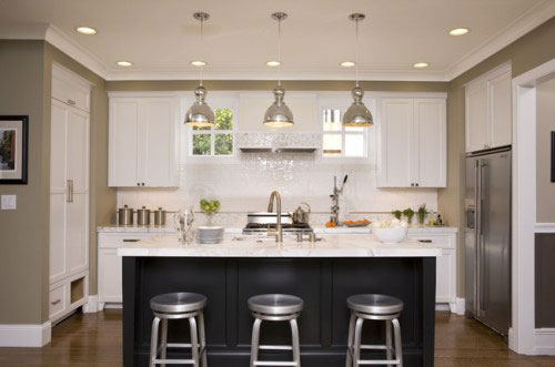 Marvelous U Shaped Kitchen With Island Bench