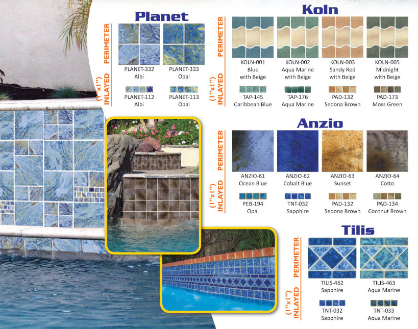 unique swimming pool tiles photo - 2