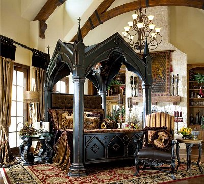victorian gothic themed bedroom photo - 6