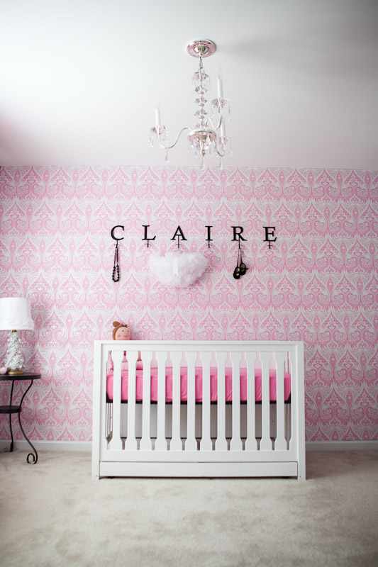 vintage baby room wallpaper photo - 1
