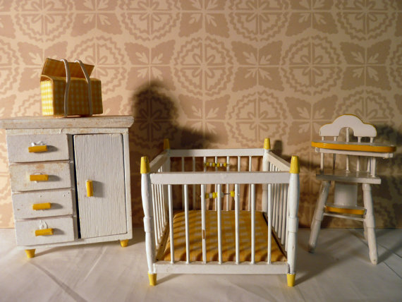 vintage baby room wallpaper photo - 2