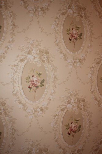 vintage baby room wallpaper photo - 3