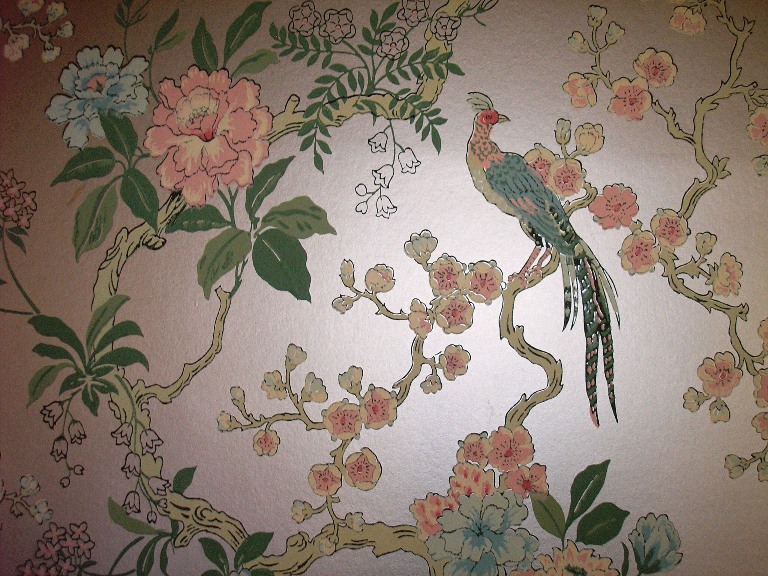 vintage dining room wallpaper photo - 1