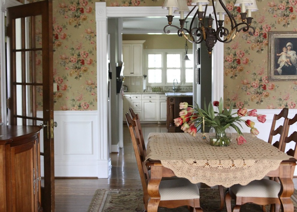 Vintage Dining Room Wallpaper Photo   4