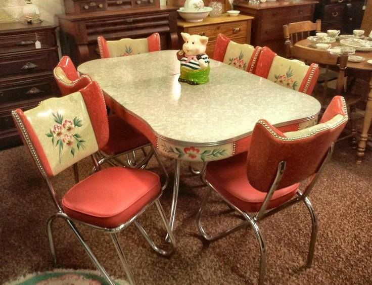 vintage kitchen table and chairs photo - 2