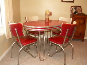 vintage kitchen table set photo - 1