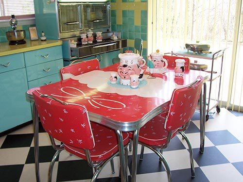 vintage kitchen table set photo - 4
