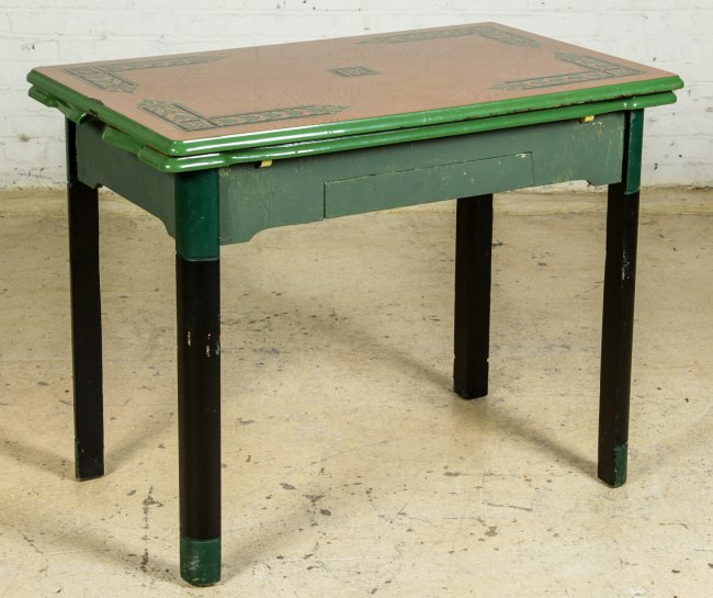 vintage kitchen table with enamel top photo - 4