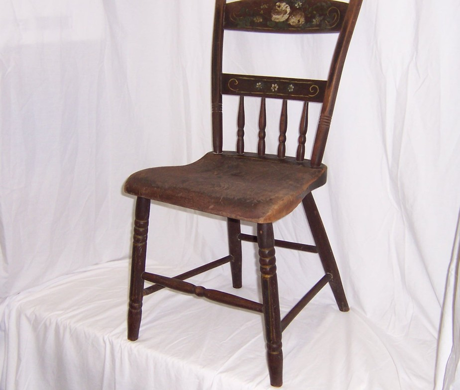 vintage kitchen wood chairs photo - 4