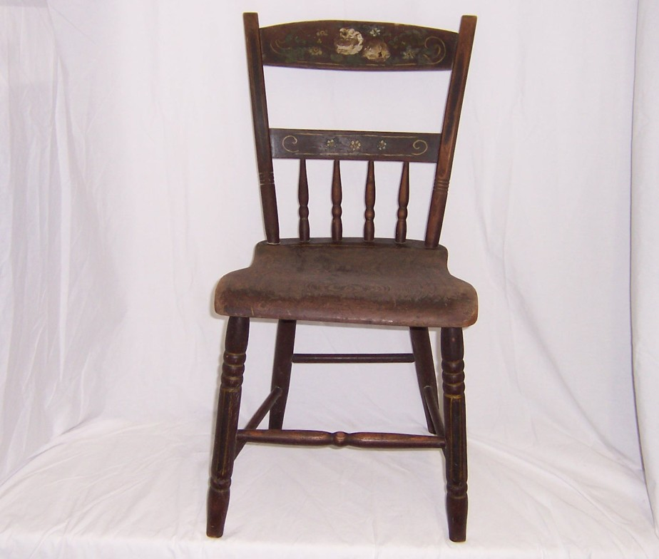 vintage kitchen wood chairs photo - 5