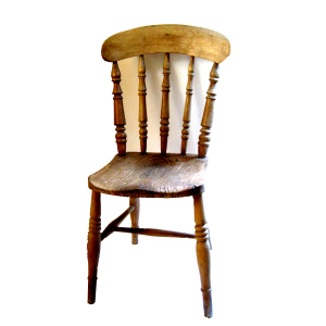 vintage kitchen wood chairs photo - 6