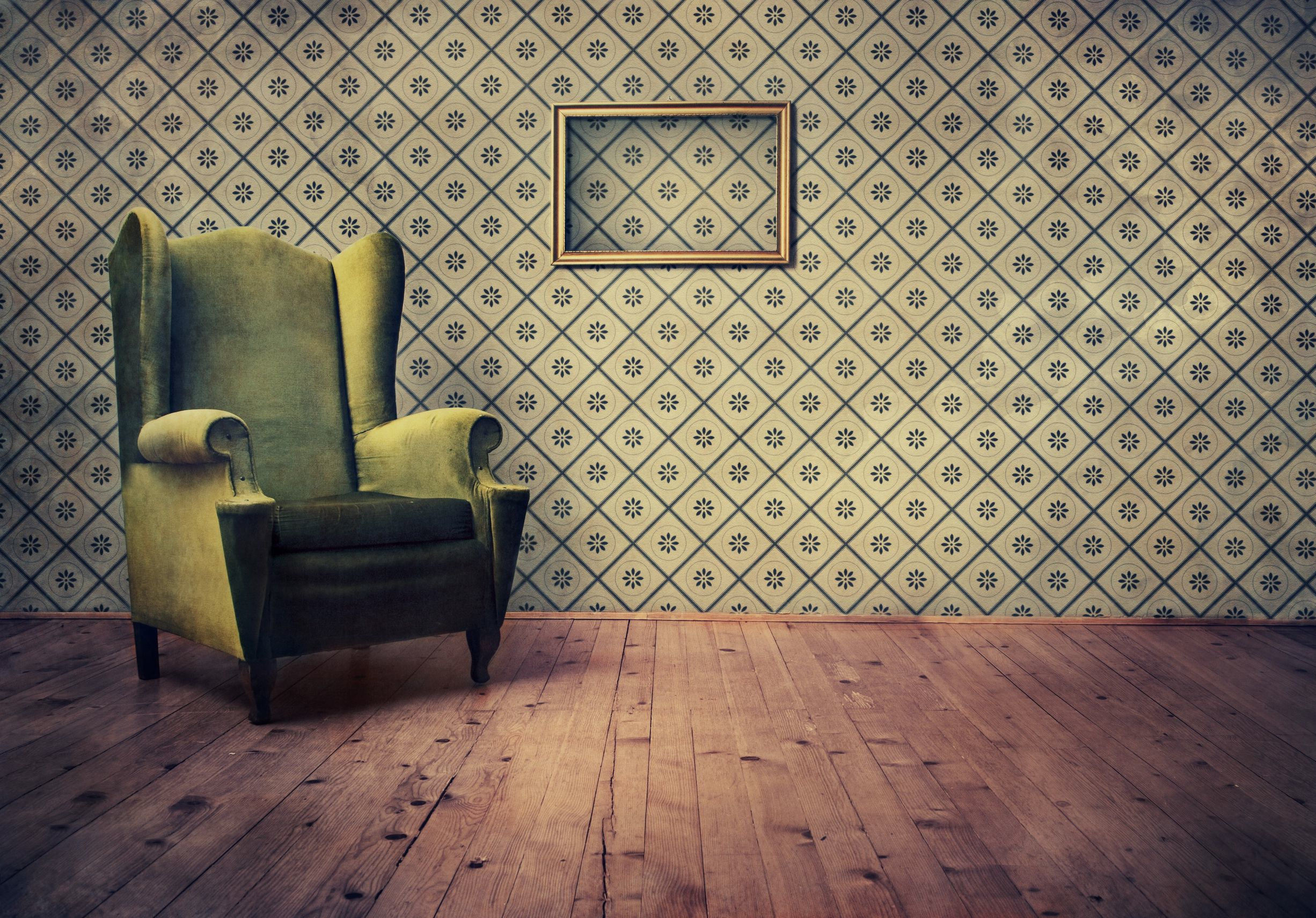 vintage room wallpaper photo - 1