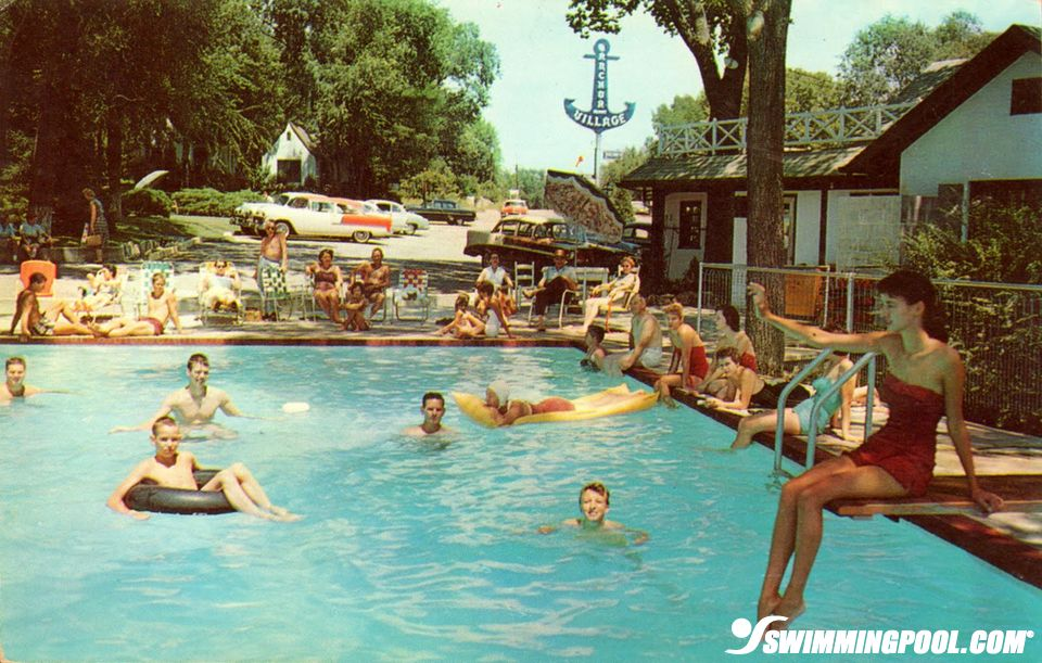 vintage swimming pool photo - 1