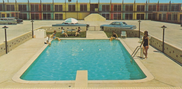 vintage swimming pool photo - 2