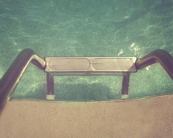vintage swimming pool art photo - 1