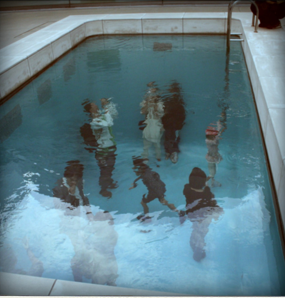 vintage swimming pool art photo - 3