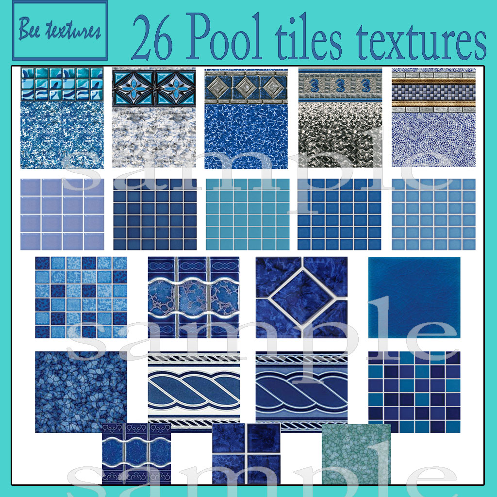 Vintage swimming pool tile interior exterior doors for Pool design tiles
