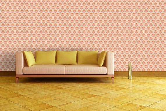 vintage wallpaper for living room photo - 5