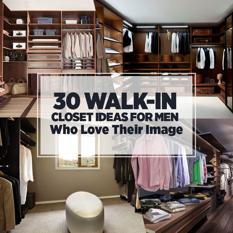 walk in closet design for men photo - 3
