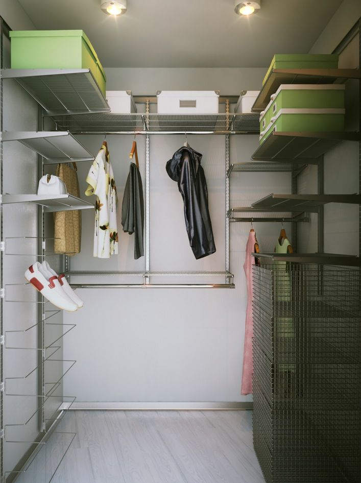 walk in closet in a small bedroom photo - 4