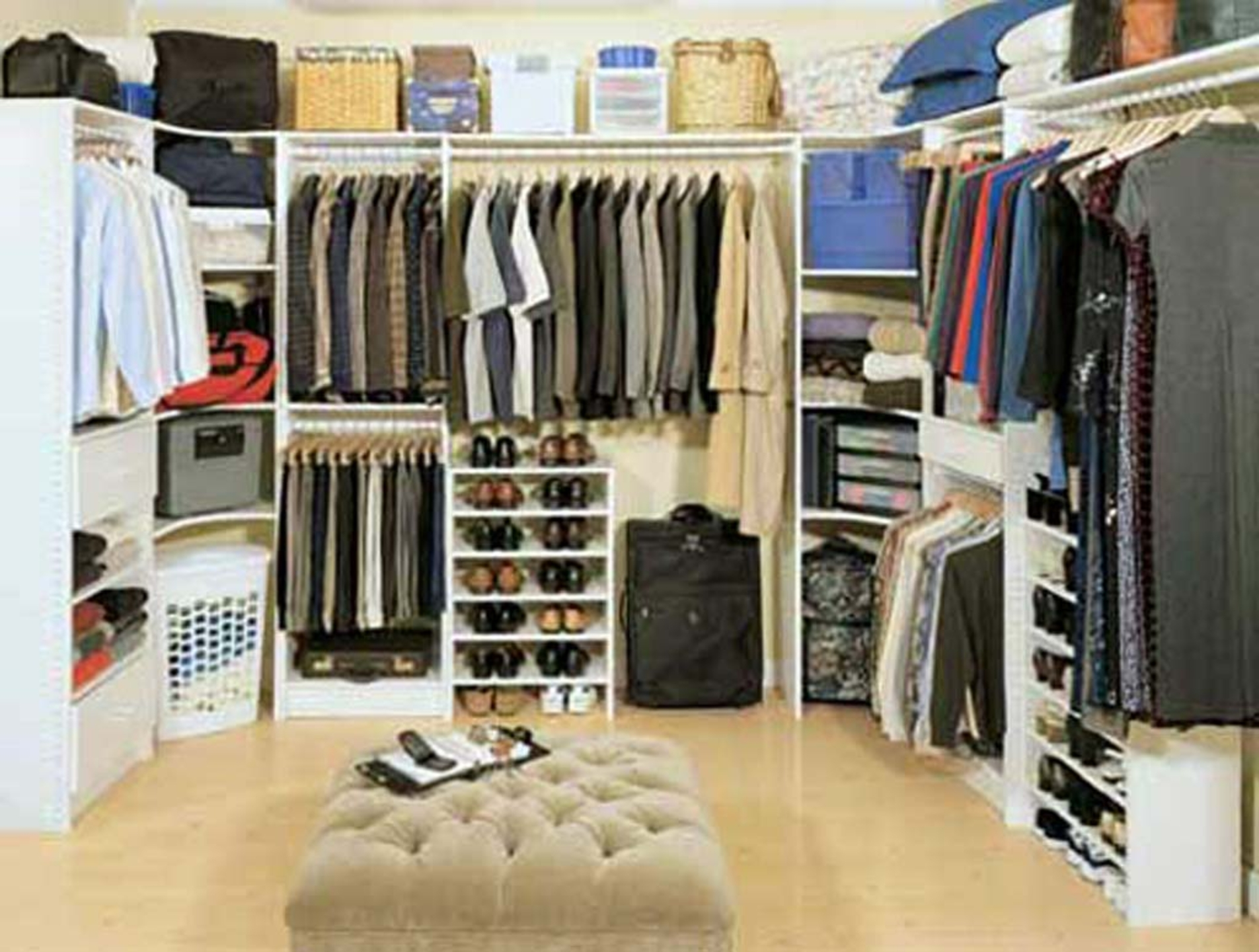 walk in closet in a small bedroom photo - 5
