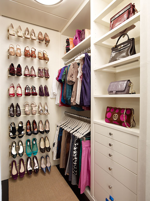walk in closet in a small space photo - 1