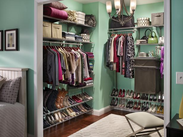 walk in closet in a small space photo - 6
