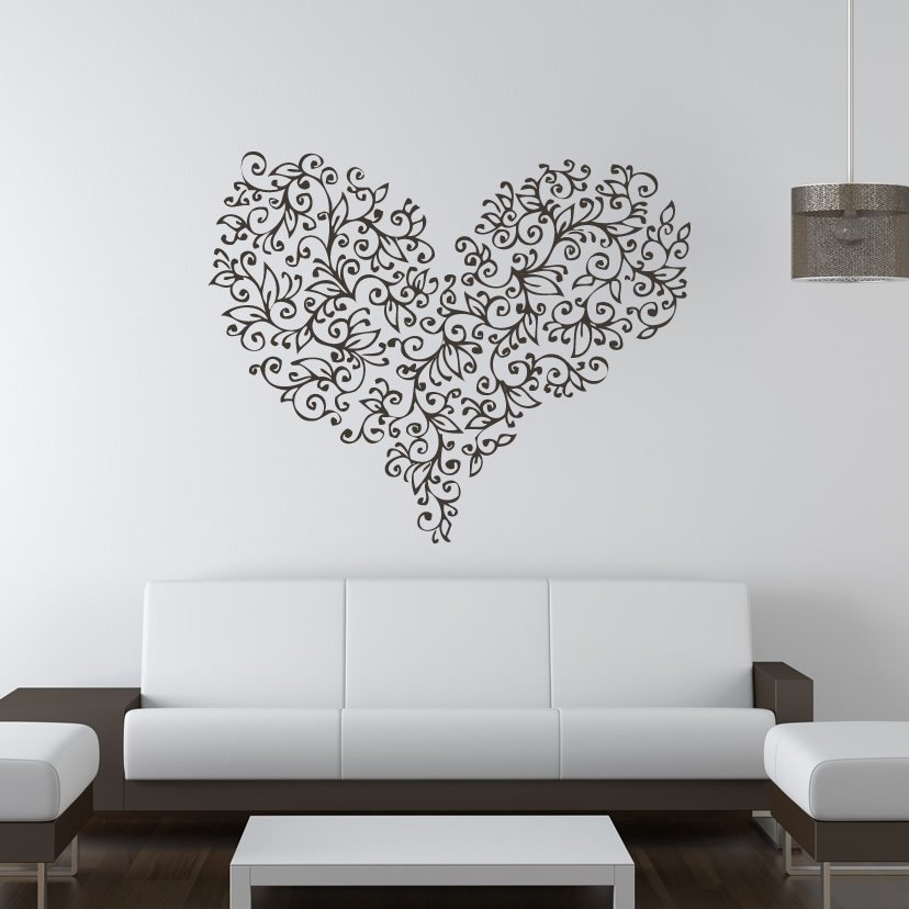 wall art stickers flowers photo - 3