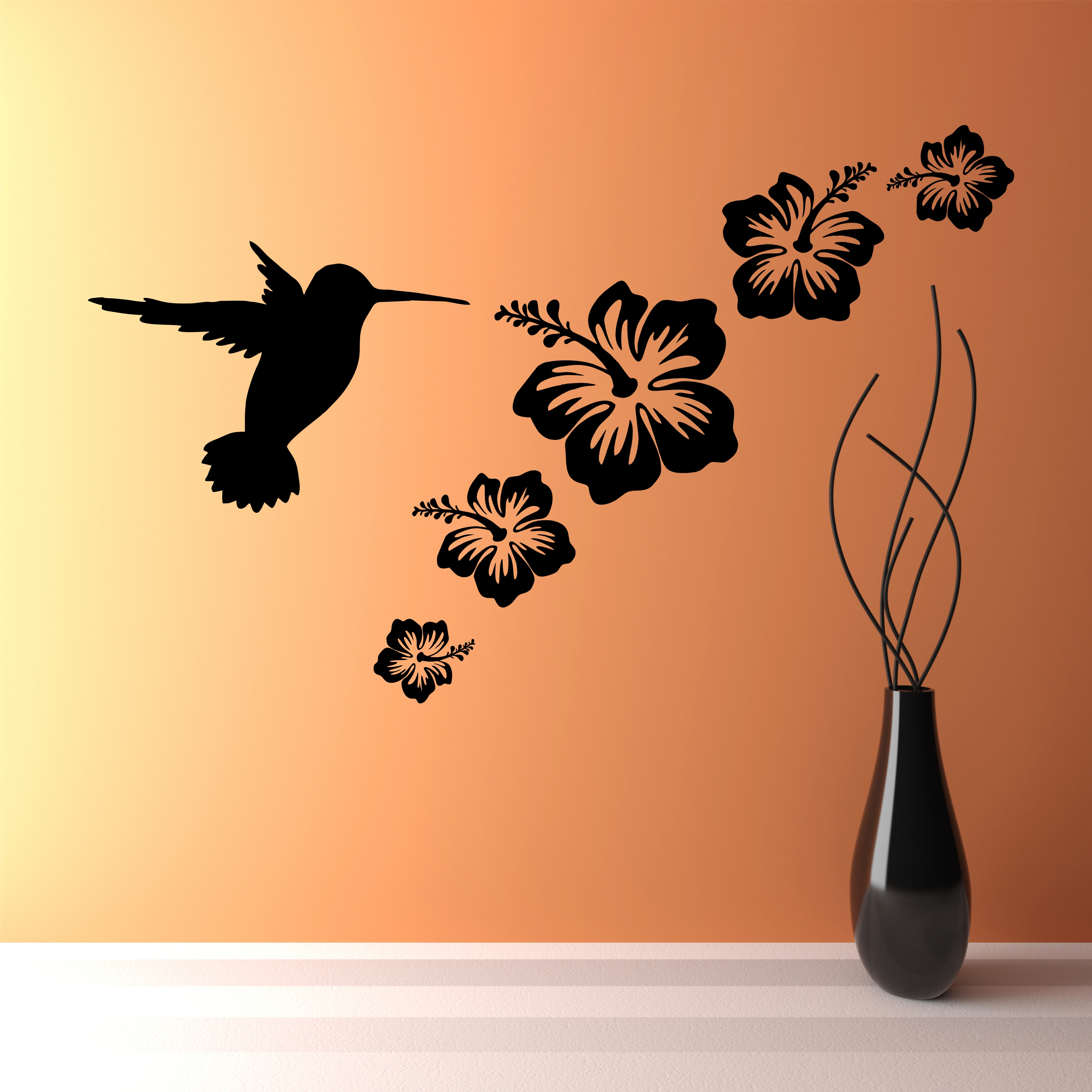 wall art stickers flowers photo - 5