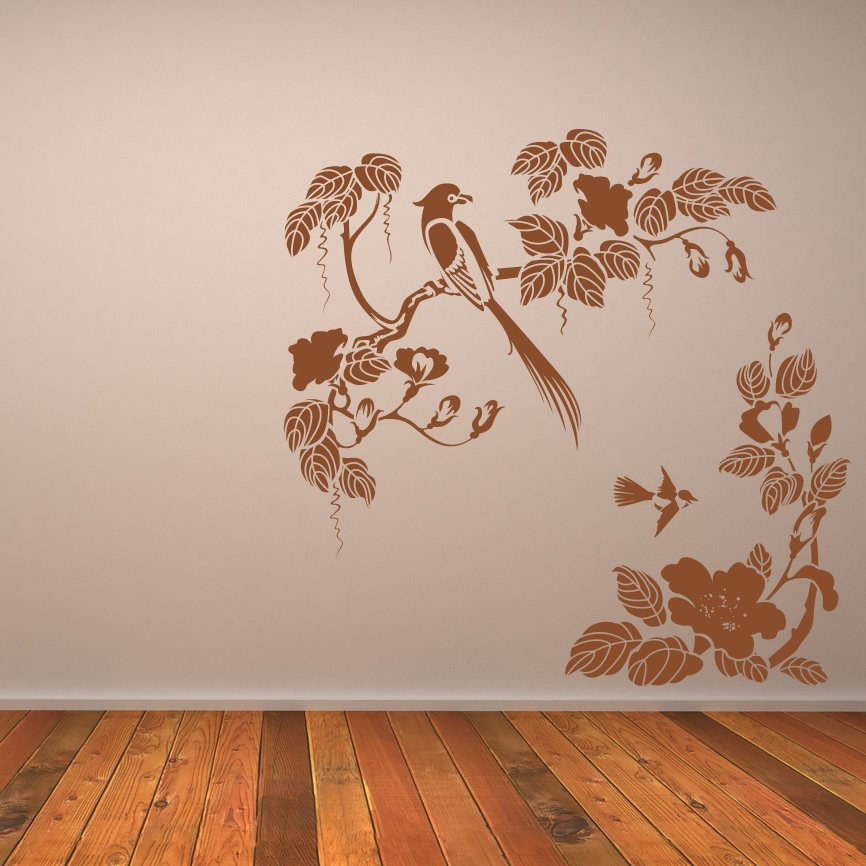 wall art stickers flowers photo - 6