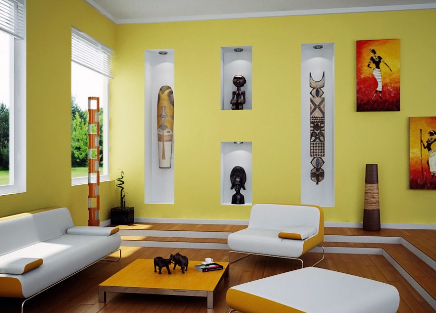 Wall Colour Design For Living Room Bedroom And Living Room Image