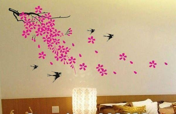 wall decor stickers flowers photo - 3