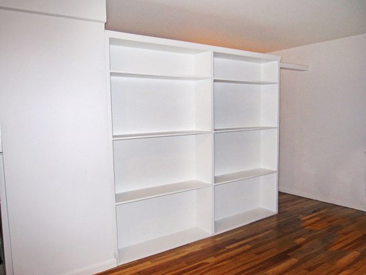 wall divider bookcase photo - 1