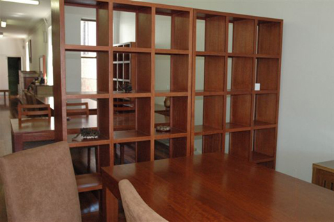 wall divider bookcase photo - 5