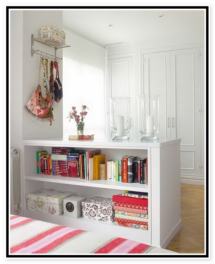 wall divider bookcase photo - 6