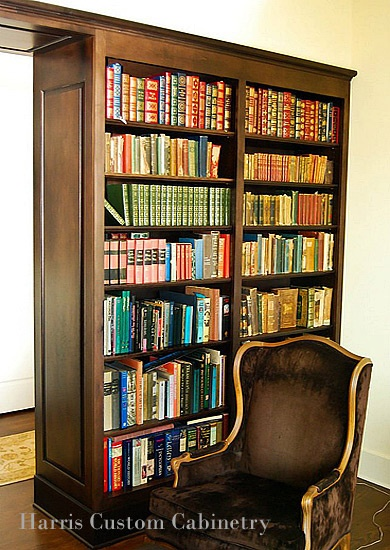 wall divider bookshelf photo - 1