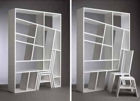 wall divider bookshelf photo - 5