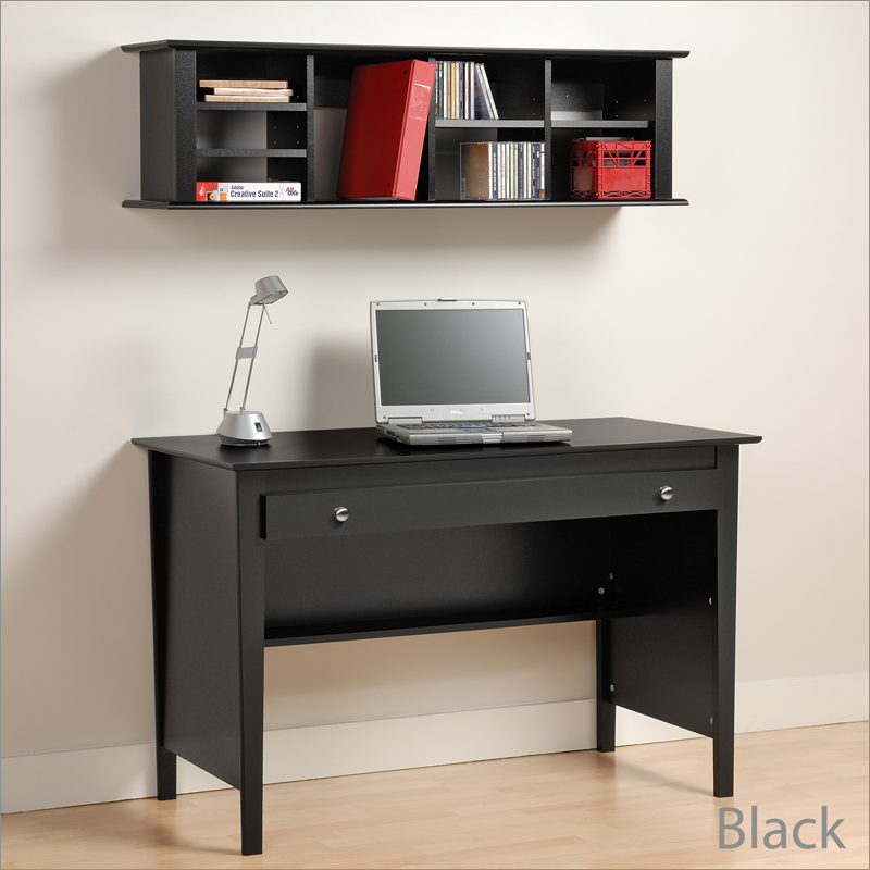 wall mounted desk hutch photo - 3