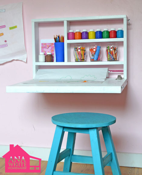wall mounted desks for kids photo - 2