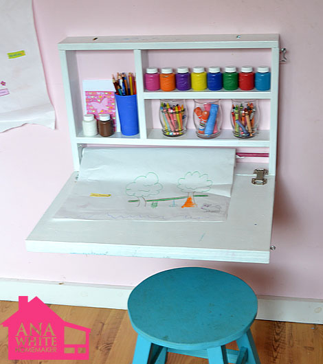 wall mounted desks for kids photo - 4