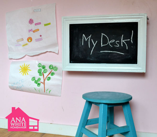 wall mounted desks for kids photo - 6