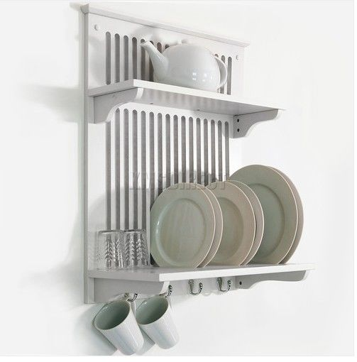 wall mounted plate shelves photo - 1