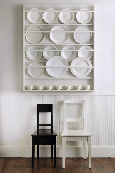 wall mounted plate shelves photo - 4