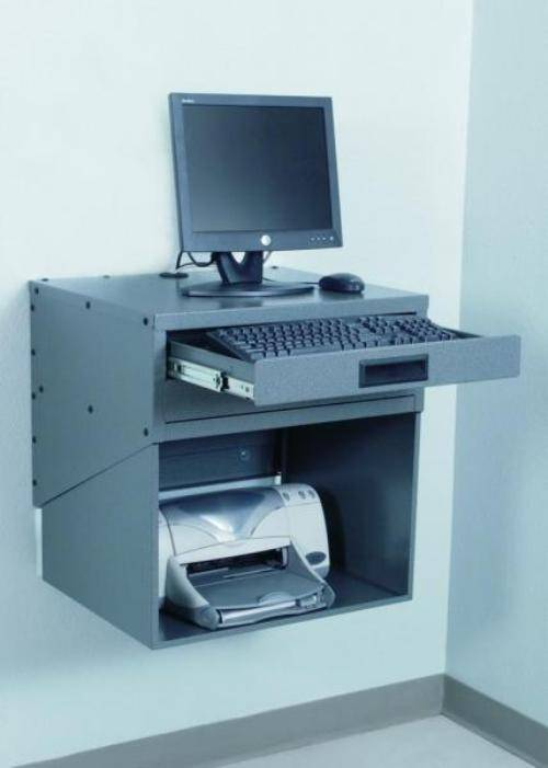 wall mounted printer shelves photo - 1