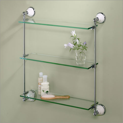 wall mounted shelves bathroom photo - 5