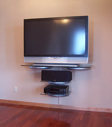 wall mounted shelves for tv photo - 4